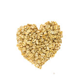 Heart from oatmeal Royalty Free Stock Images