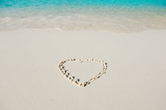 Heart and ocean Royalty Free Stock Images