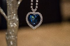 Heart Of The Ocean. Necklace I bought off amazon Royalty Free Stock Images