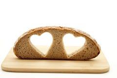 Heart Of Bread Stock Photo
