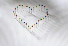 Free Heart Of Pins Royalty Free Stock Photos - 17141608