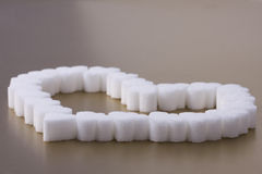 Heart Of Sugar Stock Images