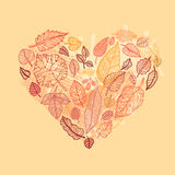Heart Of The Autumn Leaves. Royalty Free Stock Photography