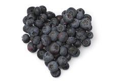 Heart ofblue berry Royalty Free Stock Photography