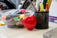 Heart in the office Royalty Free Stock Image