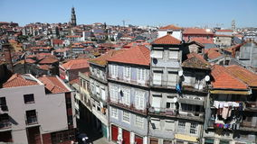 The heart of the old Porto city stock video