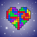 Heart old video game design Royalty Free Stock Photography