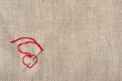 Heart On Canvas Royalty Free Stock Photography