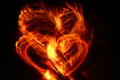 Free Heart On Fire Stock Photo - 18157170