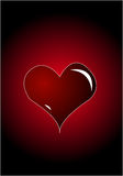 Heart On Red Background Royalty Free Stock Image