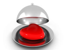 Heart On The Plate Royalty Free Stock Image