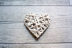 Heart On Wooden Stock Photography