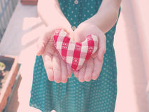 Heart in open hands Royalty Free Stock Images