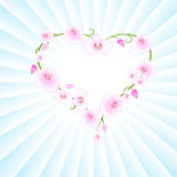 Heart in orchid. Stock Photography