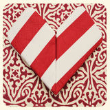 Heart. An origami heart on a patterned background with a retro effect Royalty Free Stock Photography