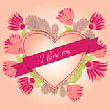 Heart. Original card. Happy Valentines Day vector illustration