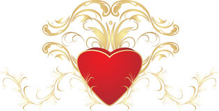 Heart and ornament Royalty Free Stock Image