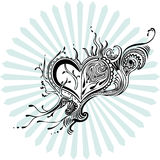 Heart ornament. Imaginative sketch of heart ornament Royalty Free Stock Photos