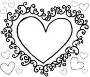 Heart ornament. On white background. vector image vector illustration