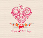 Heart ornament background. Mothers day greeting card Stock Image