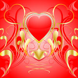 Heart ornament background. Valentine day Stock Image