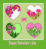 Heart ornament background Valentine's Day Stock Image