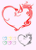 Heart ornament Royalty Free Stock Image