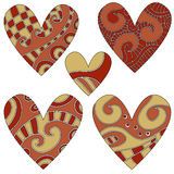 Heart Ornament Collection Royalty Free Stock Photos