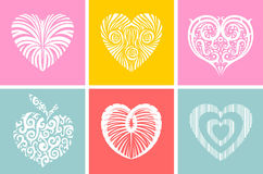 Heart ornament. The heart of the ethnic theme. Vector Image divided by layers Royalty Free Stock Photography