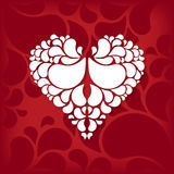 Heart in ornament style stock illustration