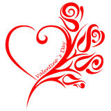 Heart and ornament, valentine`s day Royalty Free Stock Photography