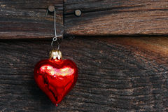 Heart Ornament on wood Stock Photos