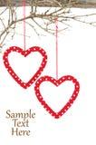 Heart ornaments Royalty Free Stock Photos