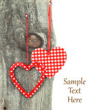 Heart ornaments Stock Images
