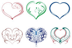 Heart ornaments. Heart, tattoo ornament, various ornaments heart, Heart ornaments, love, wedding, pattern, romance Stock Photo