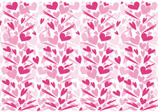 Heart ornaments pattern Stock Images