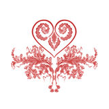 Heart ornaments. Heart from vintage ornaments vector illustration eps 8  without gradients Royalty Free Stock Images