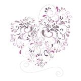 Heart with ornaments in violett. Beautiful heart with ornaments in violett Stock Photos