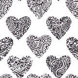 Heart ornate pattern Stock Photo