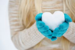 Heart Out Of The Snow Stock Images