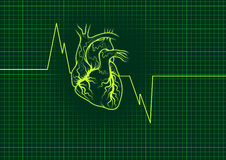 Heart outline Stock Photography