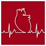 Heart Outline Icon Stock Image