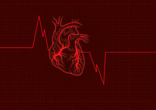 Heart outline red Stock Image