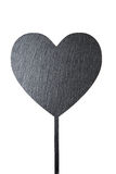 Heart outline on a white background. Contour of heart on a white background, the outline is filled with black stock photo