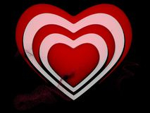 Heart outlines on white. In backgrounds Royalty Free Stock Images