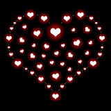 Heart over black Stock Images