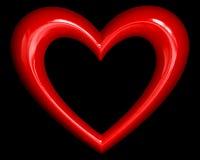 Heart over black Stock Photos