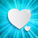 Heart over blue background Royalty Free Stock Photos
