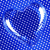 Heart over blue polka dots Stock Image