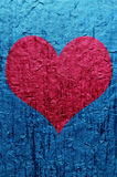 Heart over blue Stock Image